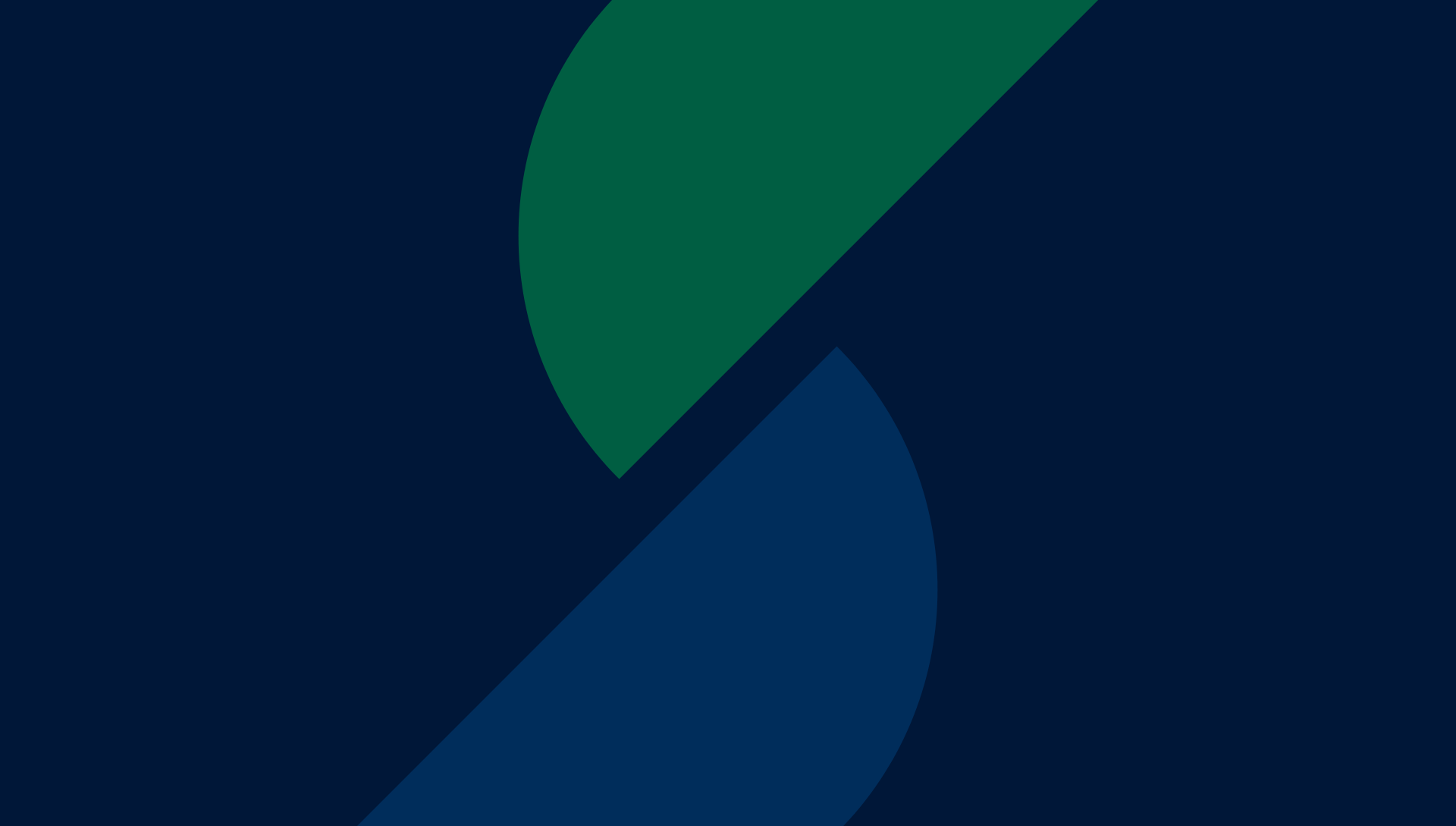 Abstract shapes in blue and green